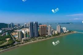 情侶灣一號_珠海 3分鐘到港珠澳大橋關口 與香港一橋之隔 情侶路海濱公園長廊 (實景航拍)
